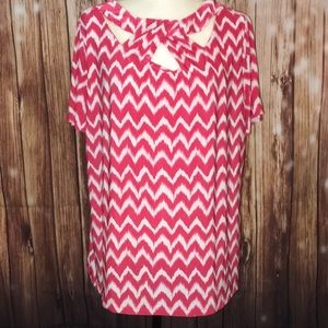 INC International Concepts Size 1X Chevron Top